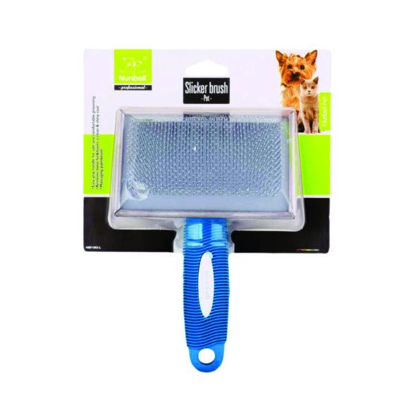 Pet Slicker Brush-Grande-Azul